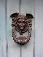 Knocking on Heavens Door 2 (Mockney Rebel) Tags: angel winchester doorknocker nikoncoolpix3200 againstflickrcensorship
