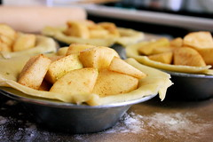 Mini Apple Pies, filled