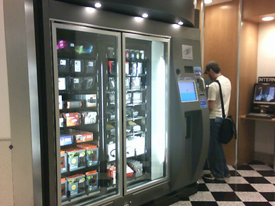 iPod etc. VENDING machine.