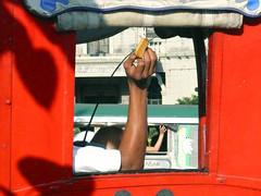 two right arms (jobarracuda) Tags: red window square lumix hands arms philippines transportation manila malate calesa fz50 panasoniclumix panasonicfz50 dmcfz50 jobarracuda flickristasindios