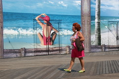 twins (JKnig) Tags: travel pink blue people color doors atlanticcity pinkrules pinktastic top20doors pinkrocks