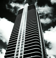 Toned (Sandwiches Of The Dead) Tags: street atlanta tower architecture clouds digital skyscraper georgia 100v10f architectural infrared toned duotoned buckhead