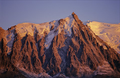 Midi sunset (Ron Layters) Tags: sunset france mountains alps nature geotagged interestingness slide explore transparency chamonix rescanned montblanc alpenglow aiguilledumidi hautesavoie mountainsalps elevation35004000m altitude3842m summitaiguilledumidi flickrfly ronlayters 3842m slidefilmthenscanned massifdumontblanc geo:lat=458762 geo:lon=688675 highestpositioninexplore421onmondayapril72008