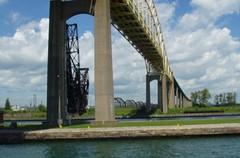 International Bridges (joeldinda) Tags: blue bridges greatlakes soo upperpeninsula saultstemarie sault joeldinda internationalbridge c50