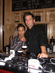 See, he is really short (dogmilque) Tags: ritual coffee roaster opening party stumptown bluebottle ecco caffè espresso drunk