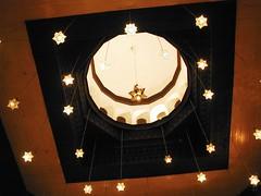1902 (selva) Tags: egypt aswan oldcataracthotel 1902 restaurant ceiling lights lamps skylights hotel