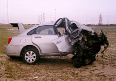 Chev Optra (Psycho Milt) Tags: cars kuwait chevrolet optra crash accident wreck carwreck