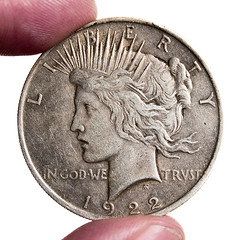 1922 Peace Dollar (bikeracer) Tags: money macro me 1025fav silver wow liberty us coin peace fingers dollar worn squaredcircle blogged artdeco top20macro 1922 scratched topv4444 fingertips sorryevaluation pitted ingodwetrust