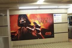 Rise Lord Vader (jason ilagan) Tags: sydney australia townhall trainstation station railway starwars darthvader starwarsepisode3 advertising vader