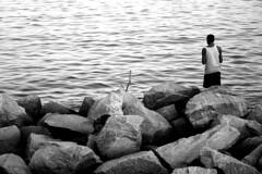 (f.mandarino) Tags: pb bw aterro flamengo efs1855mm pesca rio água water baia pescador fisherman