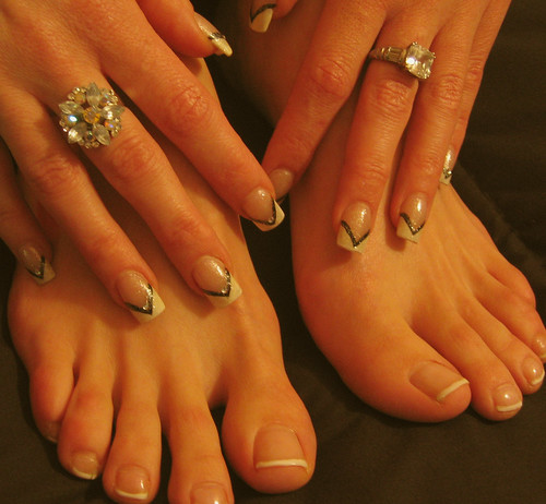 White Toes And Fingers White Tips on Her Toes