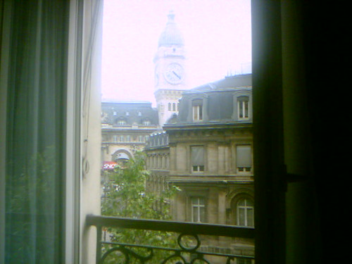 The view from our hotel in Paris