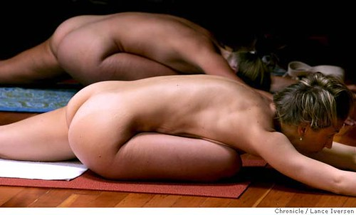 Advocate article via Yahoo about Hot Nude Yoga trend