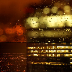 (-Antoine-) Tags: city urban canada blur rain night catchycol