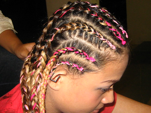 fifi's pink synthetic cornrows