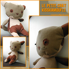 kisskamoufle (lavomatic) Tags: cat chat handmade main explore fait kisskamoufle