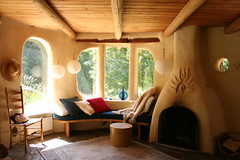 Inside of Cob House by neil-san on Flickr