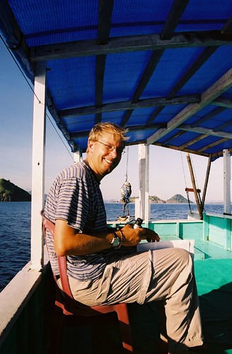 Falk on the boat during our trip to Rinca Island