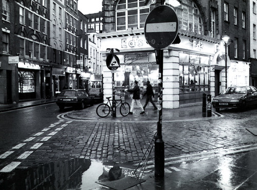 London, Soho in the Rain