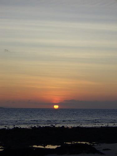 sunset at Gili Nanggu