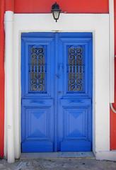 Nice Door in Matsouki, Kefalonia - Greece (mnadi) Tags: door blue red wall island greek greece kefalonia ionic matsouki
