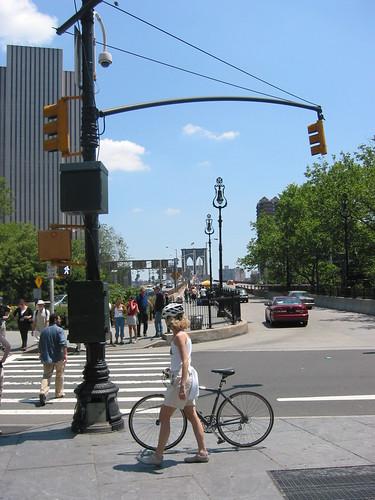 Brooklyn Bridge Manhattan end ny0007