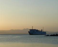 Morning Ferry (RobW_) Tags: 2001 15fav ferry sunrise dawn july greece favourite attica rafina