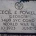 Cecil E. Powell GA Pvt. 3403 SVC Comd Unit WWII Oct. 10, 1923 June 2, 1968