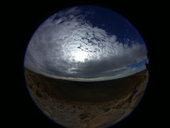 rt-az_mc-fish_06 (seannarae) Tags: arizona roadtrip fisheye crater flagstaff northernarizona meteorcrater hemisphere ipix
