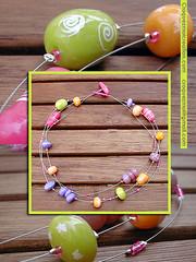 Collier bonbons (lavomatic) Tags: collier argile polymre fait main perle