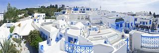 Sidi Bou Said, 180° panorama