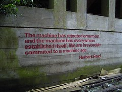 Herbert Read (duncan) Tags: stpeters stencil machine ornament flickoff spelling spellingmistake seminary committed machineage cardross europex herbertread commited