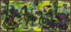 Walking Geese (Tim Noonan) Tags: brown art yellow geese tim movement drawing hypothetical digtal digi vividimagination artdigital shockofthenew sotn stickybeak newreality sharingart maxfudge awardtree maxfudgeexcellence maxfudgeawardandexcellencegroup exoticimage digitalartscene netartii digitalartscenepro