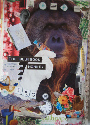 The Gluebook monkey (Copyright Hanna Andersson)