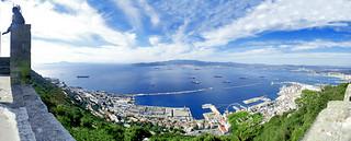 Gibraltar, 180° panorama