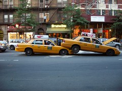 Going Under (DYFL) Tags: taxi accident cars caraccident columbusave uws nyc manhattan