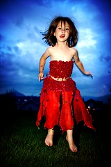 airborne (phitar) Tags: blue red sky 2004 girl tongue wow catchycolors kid topv1111 topc75 interestingness1 fairy topf150 romane phitar abigfave