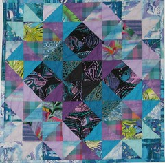 Karen - triangle quilt with fish