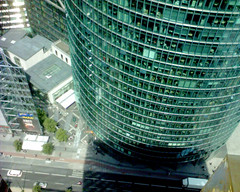 This is what it looks like when... (Alexander Becker) Tags: 2005 berlin unfound potsdamerplatz city urban concrete stone walls architecture glass suicide suicidal tendencies humor geeks praiseandcurseofthecity danger turquoise emerald building construction scifi se