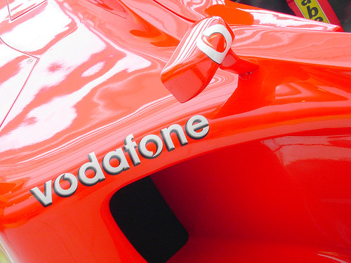 Vodafone F1 racing car
