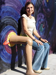 Stefana and her new friend (ekai) Tags: stefana artificiallimb monkeyclub