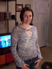 Angelica finished!! (stupid clever) Tags: grey knitting silk knit angelica tunic glampyre hipknitssilk