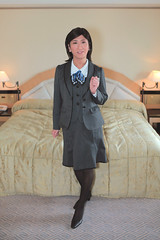 Office uniform 1511_3_01 (akichan980) Tags: crossdressing crossdresser 女装 officelady businesswoman ol ol 事務員 uniform 制服 事務服 japanese