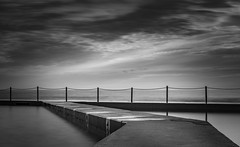 Stepping into water (Martin Snicer Photography) Tags: bw collaroy rockpool australia water pool longexposure ndfilter 50mm canon 6d photographer brilliant