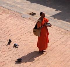 Boudhanath Monk (Gypsy Cowboy) Tags: nepal kathmandu boudhanath