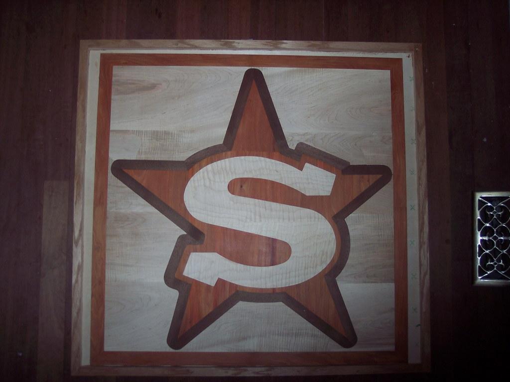 "36"" Square Logo Hardwood Floor Inlay - In Box"