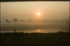 Another Cliche` Sunrise | NorthBengal (Sandip Debnath) Tags: winter fog train sunrise sandip northbengal debnath
