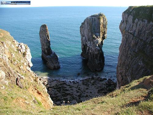 Coastallandforms102 - Sea Caves, Arches, Stacks and stumps