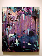 Camille Rose Garcia : Doomcave Daydreams (Coffee on Sundays) Tags: show art rose illustration painting la losangeles los gallery angeles fine garcia camille camillerosegarcia merrykarnowsky