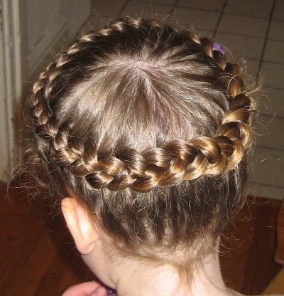 how to braid hair around head